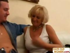 aged woman bonks a shy younger chap