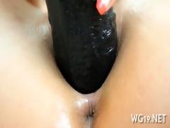angel positions & masturbates