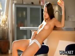 girl demonstrates delights