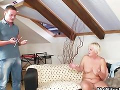 lewd granny seduces her son in law