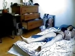 hidden livecam in bedroom of my sister caught her