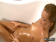 chick bounds on large sex toy