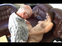 german grandpa makes youthful beauty lascivious