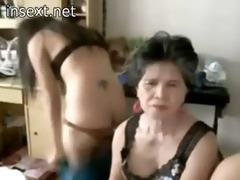 granny and grand-daughter web camera