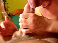 mom slow sensual blow job and jizz flow to please