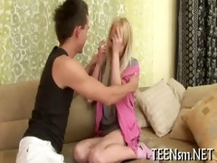 legal age teenager unbuttons her lover&#980 s