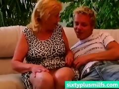 plump granny seduces younger boy