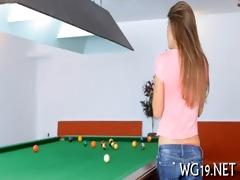 girl shows her flexibility