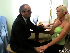 concupiscent professor seduces hid dumb blond