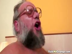 fortunate old bastard bangs pleasing gal
