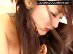 cute japanese japanese daughter brutally drilled