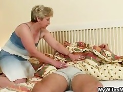 dick hungry granny bonks her son in law