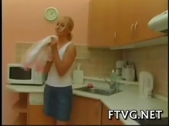 girlie plays with fake weenie