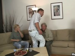 she is rides old jock after oral-job prelude
