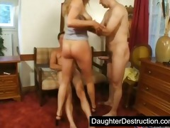 juvenile legal age teenager daughter groupfucked