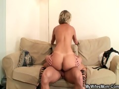 hawt mother in law enjoys pecker riding