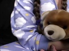 legal age teenager ryan in pajamas getting