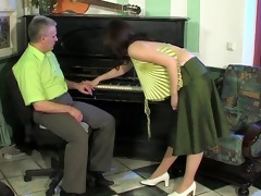piano teacher giving teen her fucking piano