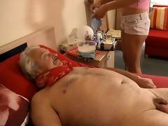 sexy, juvenile nurse bonks horny, sick grandad