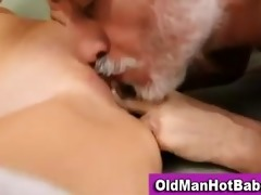old lad bonks sexy younger honey