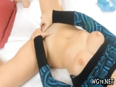hotty plays with sex tool