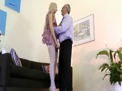 sweet honey seduces old guy