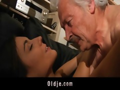older man fucking concupiscent youthful sweety