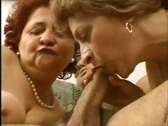 1 grandmas have a fun a hunk and his cock.
