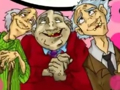 youthful beauty gang group-fucked by 4 old chaps
