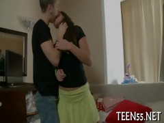 ravishing legal age teenager plays with big tool