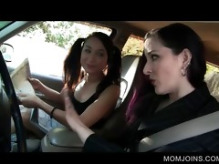 hot mom and daughter talked into fucking