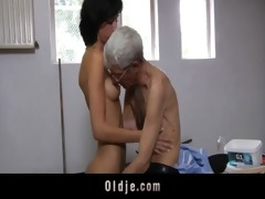 insane old guy copulates anal excited dark brown