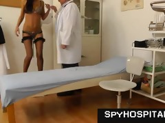 gyno-chair exam taped on hidden livecam