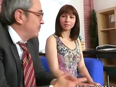 tricky old teacher - elena struggles for her
