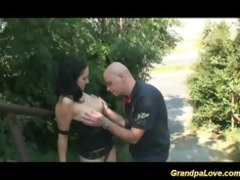 grandpa fucking a admirable brunette hair honey