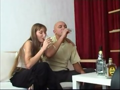 russian daddy and daughter drunk.avi