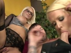 slutty mamma and her breasty daughter satisfying
