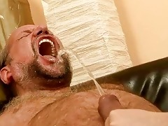 grandpa fucking and pissing on nasty redhead