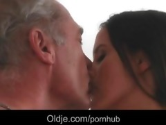 old stud lured for fuck by a nympho cutie in her