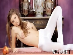 beauty plays with sex tool