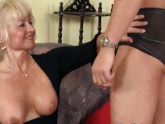 ultra golden-haired aged playgirl likes younger