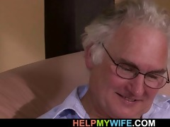 old fellow watches his wife screwed