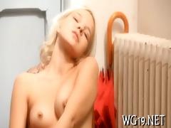 angel posing & masturbating