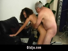 white haired grandad bonks lascivious stephanie