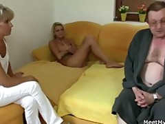 he is leaves and excited parents seduces his sexy