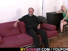 old daddy forces his sons gf engulf his ramrod