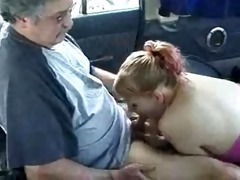 back seat oral stimulation in parked car