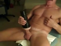 muscle dad and his fleshlight