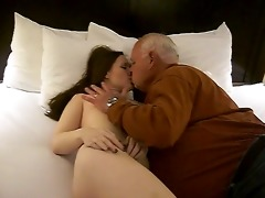 sexy woman acquires a oral pleasure from a 74