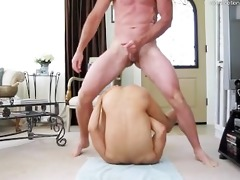 daddy fucks chap bareback discharges in open